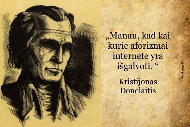 Kristijonas Donelaitis apie internetinius aforizmus