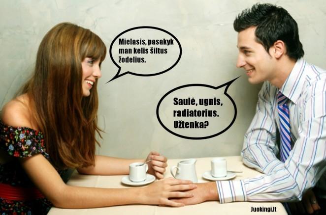 Šilti žodeliai pagal vyrus ir moteris