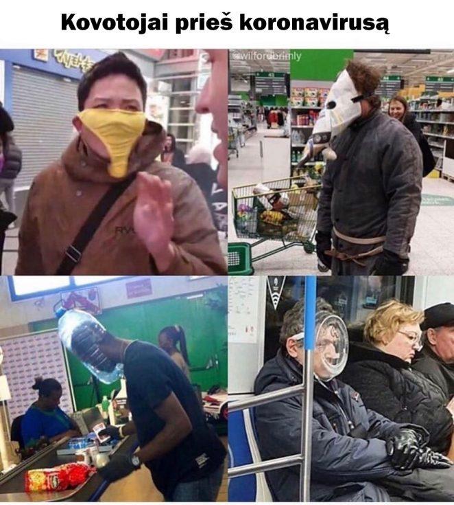 Kovotojai prieš koronavirusą