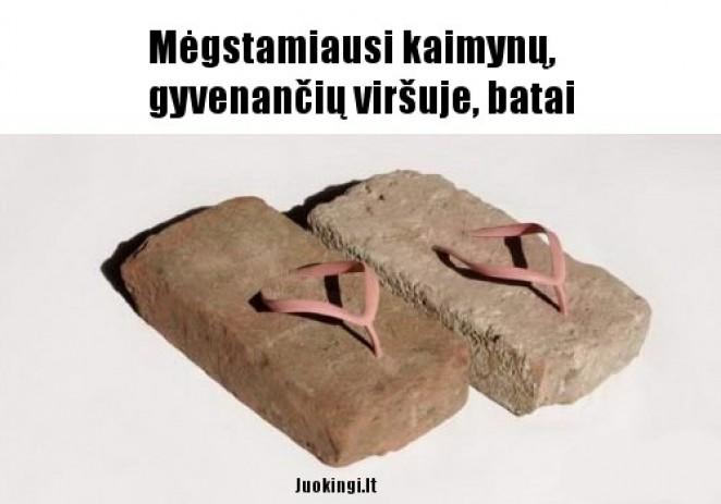 Mėgstmiausi kaimynų, gyvenančių viršuje, batai