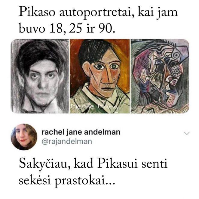 Pikaso autoportretai